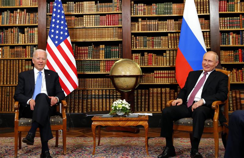 Владимир Путин и Джозеф Байден