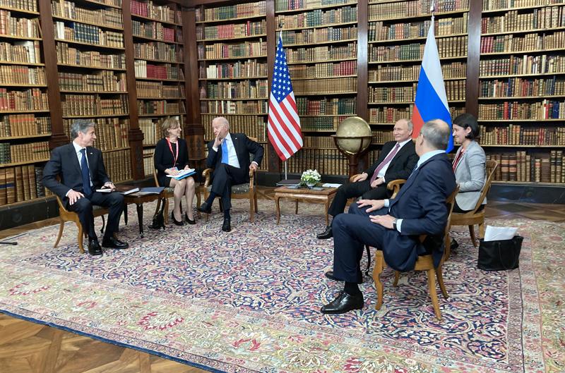 Владимир Путин и Джозеф Байден. Саммит Россия - США в Женеве