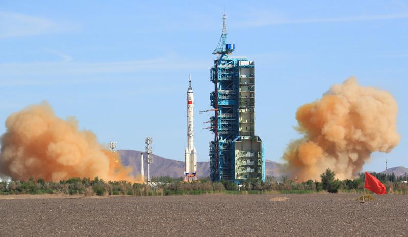 Пуск ракеты в Китае