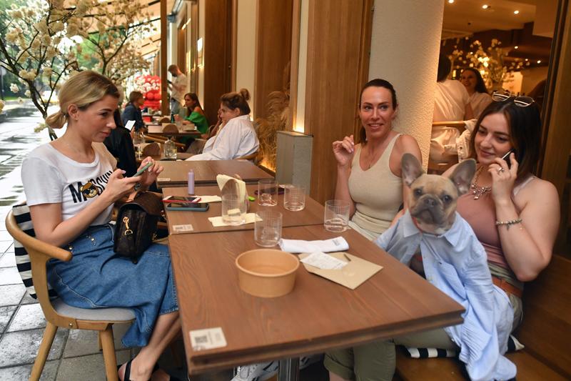 Посетители кафе