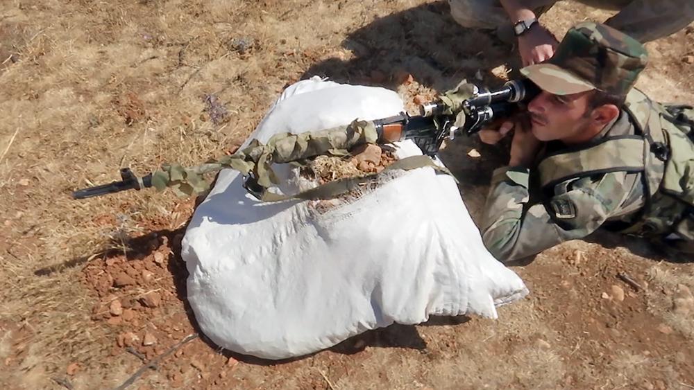 Обучение снайперов в Сирии