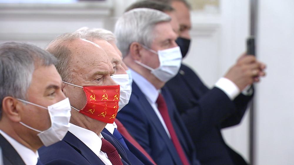 Депутаты Госдумы на встрече с Владимиром Путиным