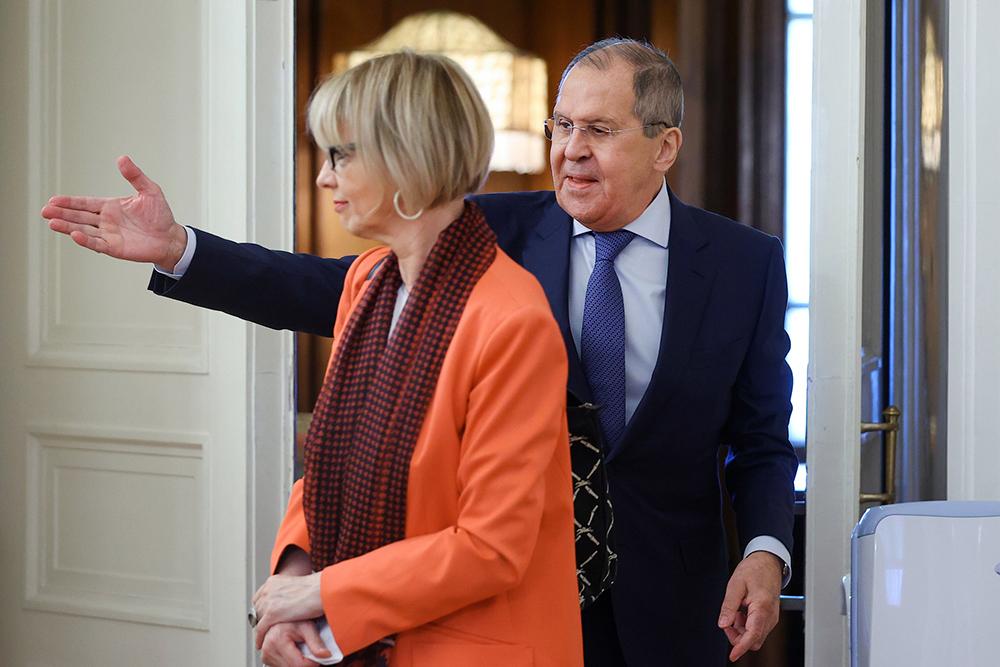 Сергей Лавров и Хельга Шмид