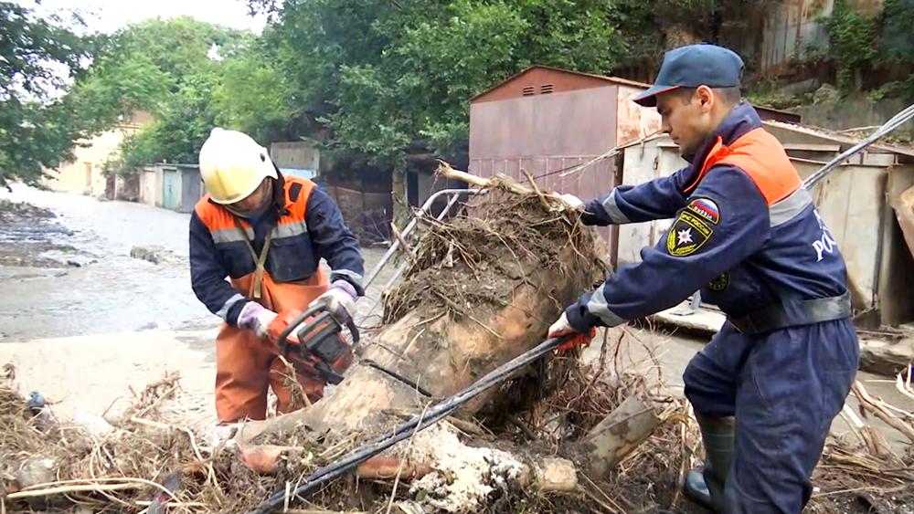 Ликвидация последствий наводнения в Крыму