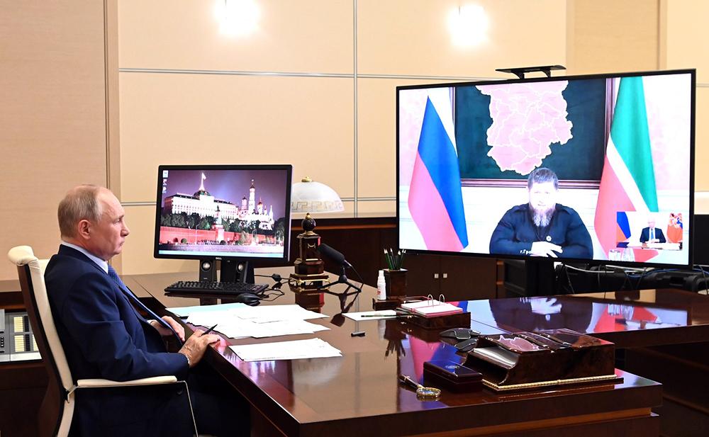 Владимир Путин и Рамзан Кадыров общаются по видеосвязи