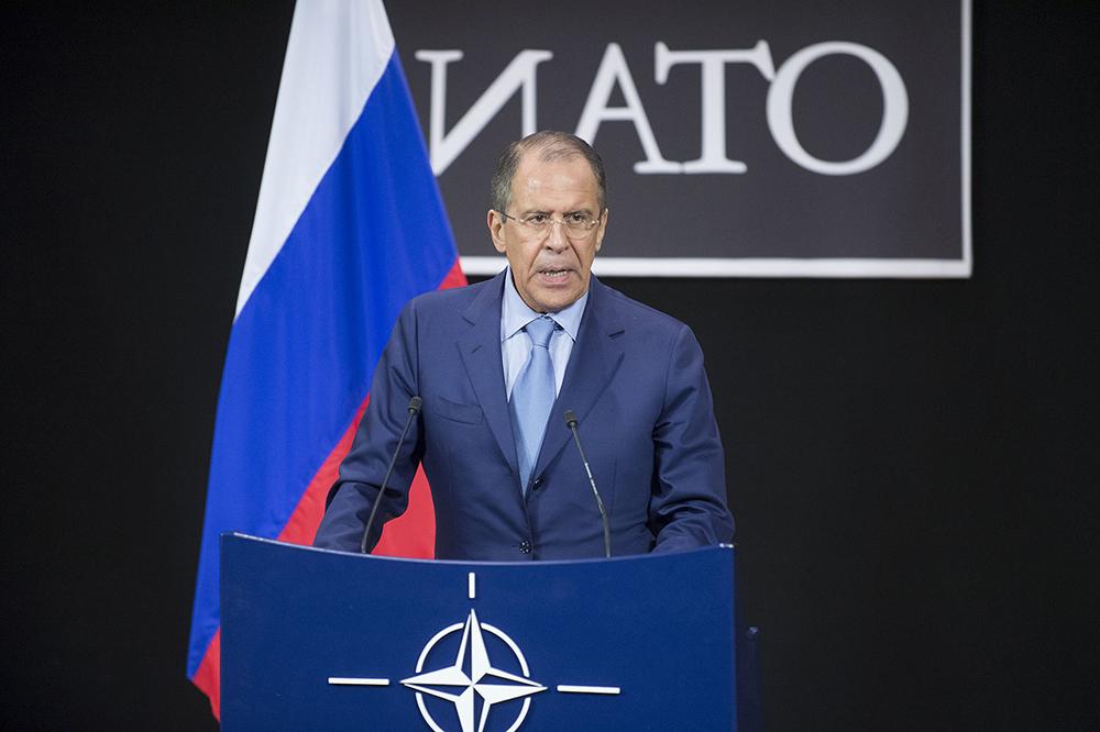 Сергей Лавров на саммите НАТО