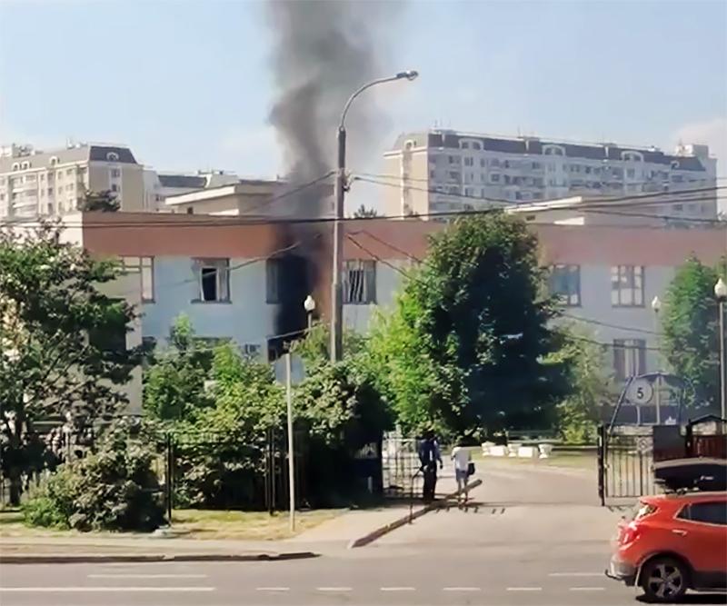 Пожар в реабилитационно-образовательном центре в Москве
