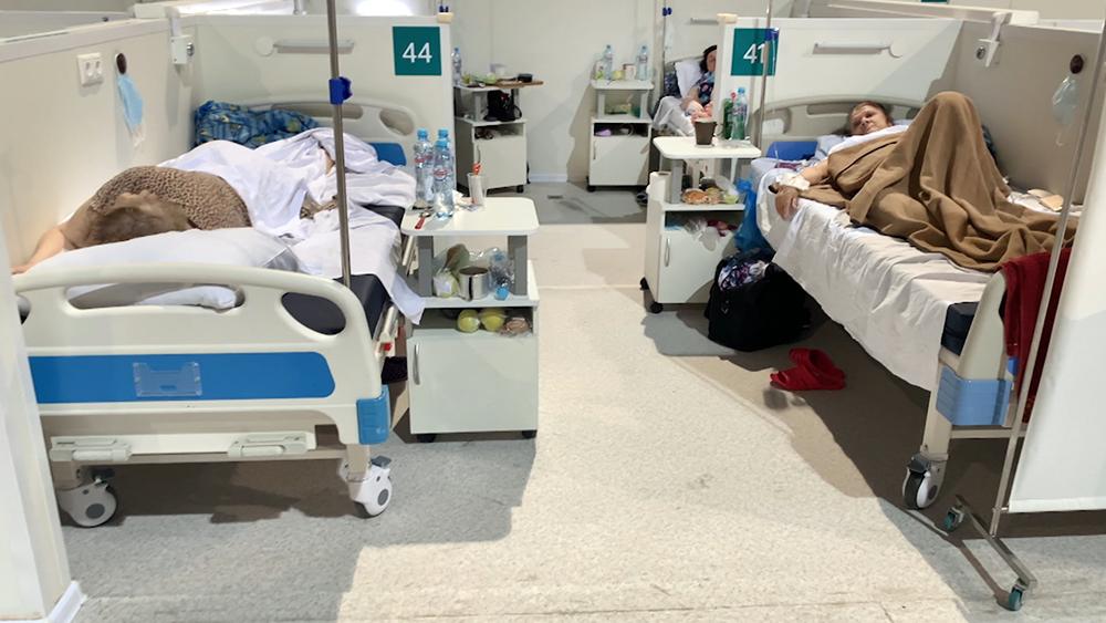 Временный госпиталь по лечению пациентов с коронавирусом