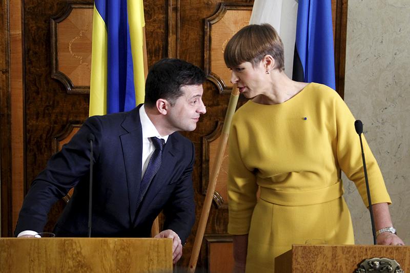 Владимир Зеленский и Керсти Кальюлайд