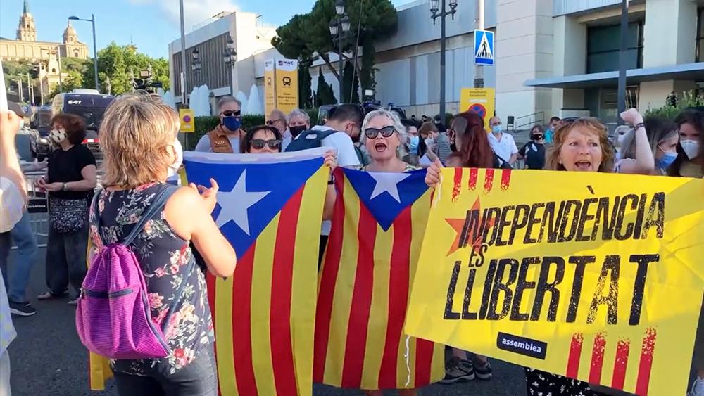 Протесты в Каталонии