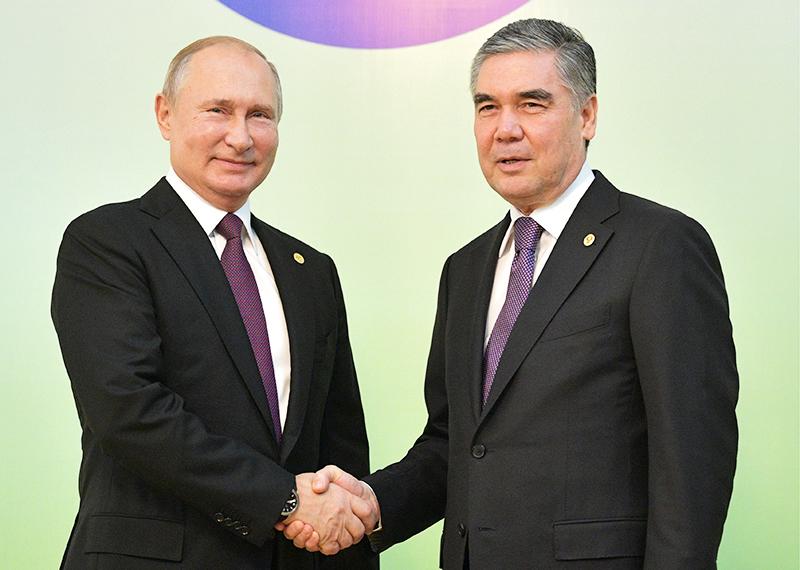 Владимир Путин и Гурбангулы Бердымухамедов