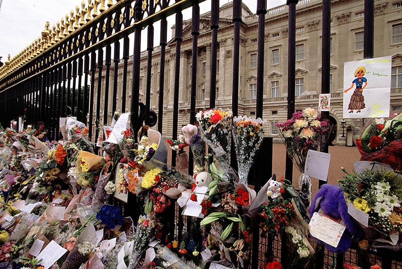 Цветы в память о принцессе Диане