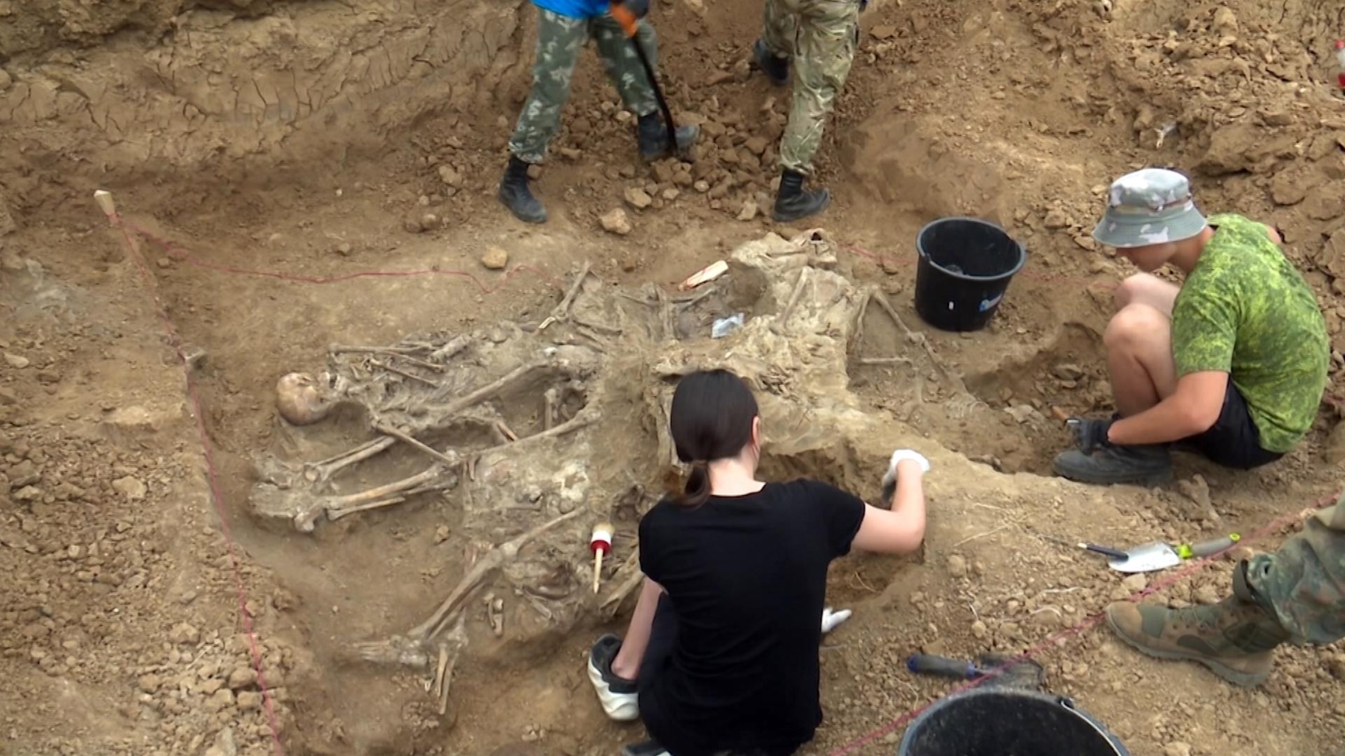 Поисовики на месте захоронений