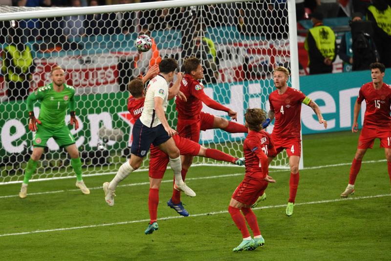 Матч Англии и Дании на чемпионате Европы 2020 по футболу