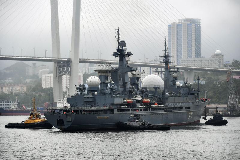 Боевые корабли Тихоокеанского флота во Владивостоке