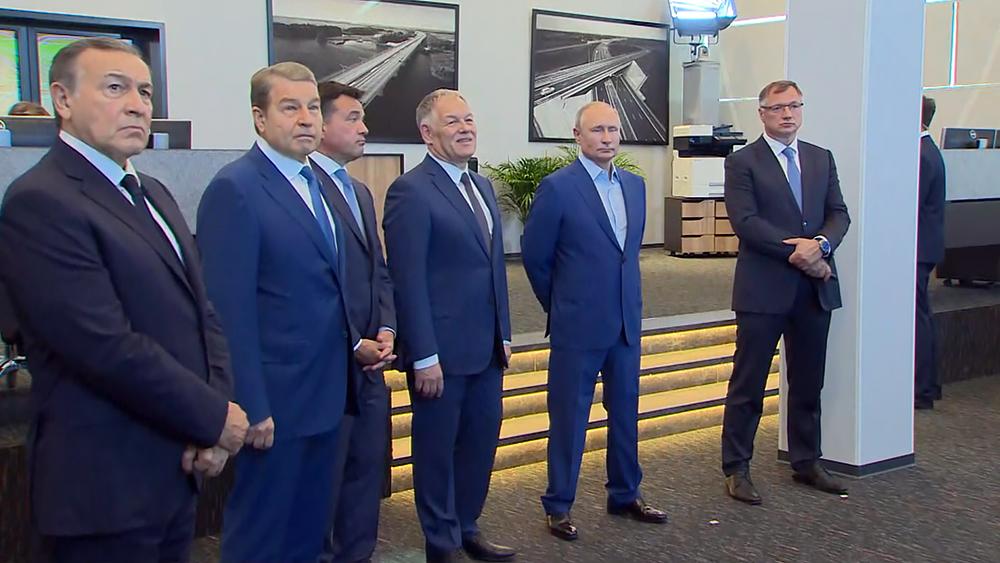 Владимир Путин на церемонии открытия ЦКАД