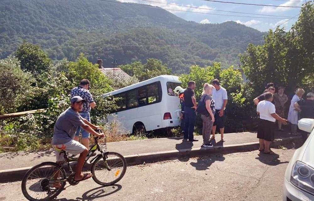 ДТП с участием автобуса в Сочи