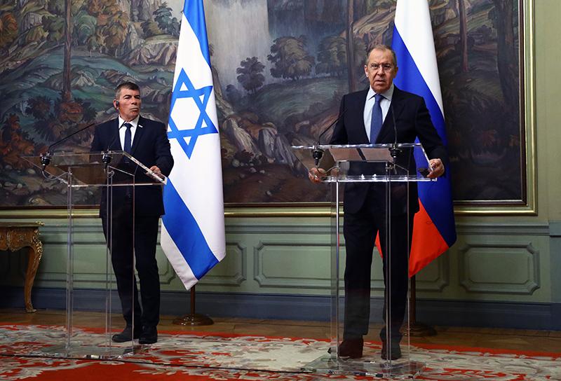 Сергей Лавров и министр иностранных дел Израиля Габи Ашкенази