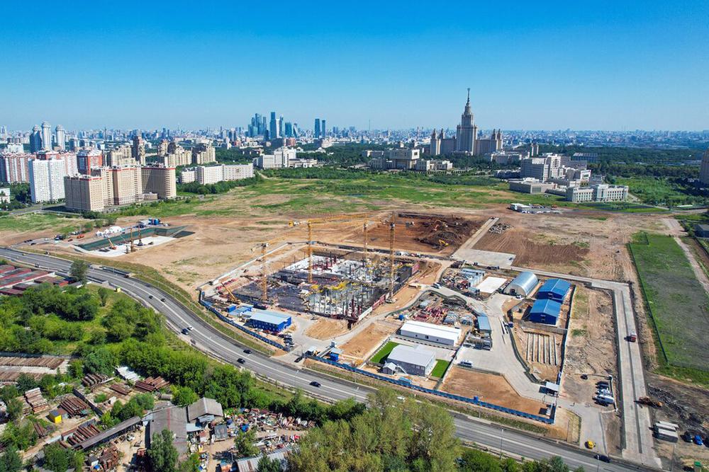 Строительство кластеров инновационного центра МГУ