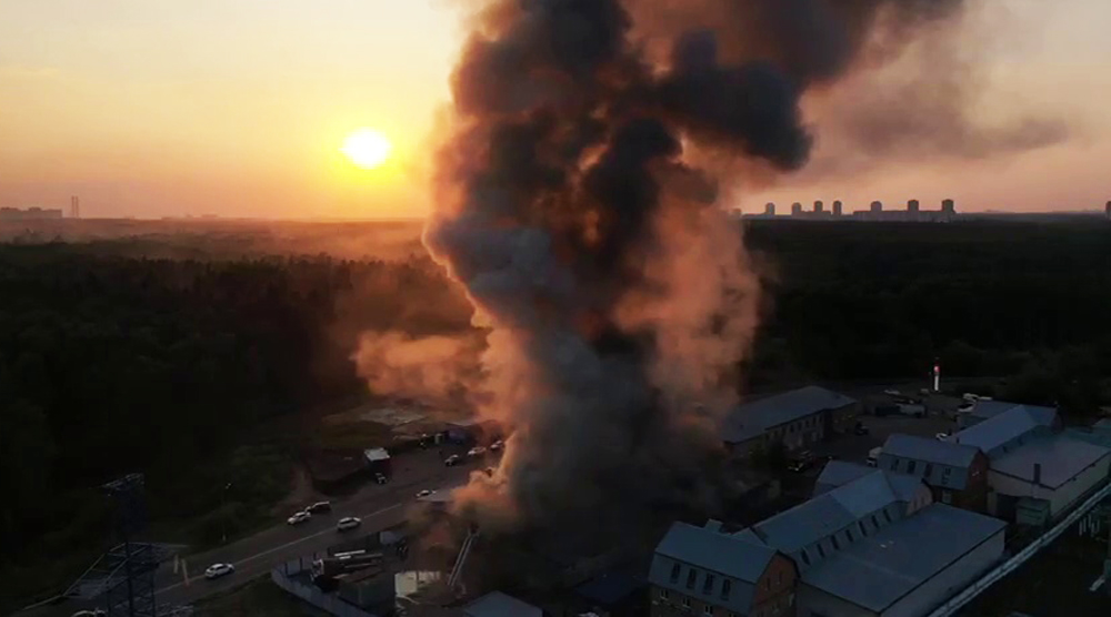 Пожар на складе в Балашихе
