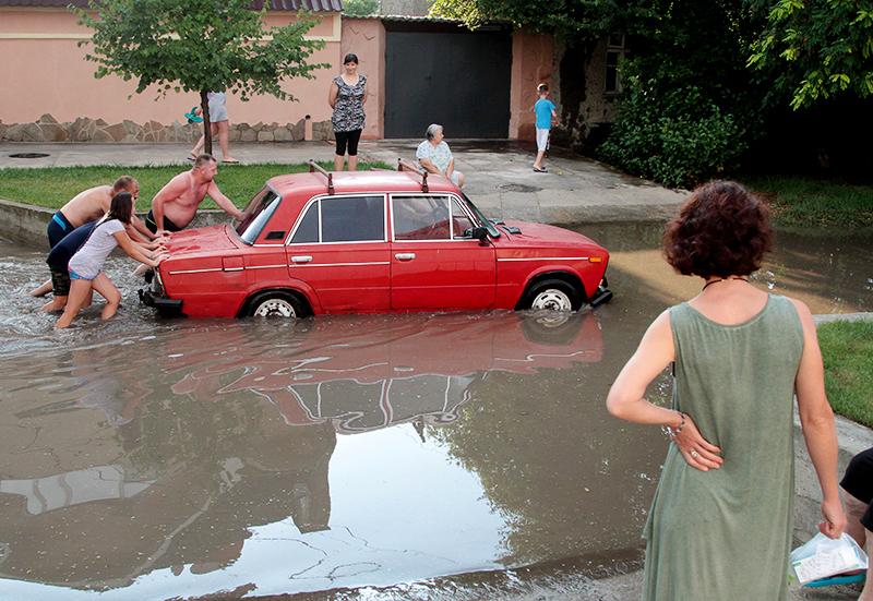 Последствия сильного дождя
