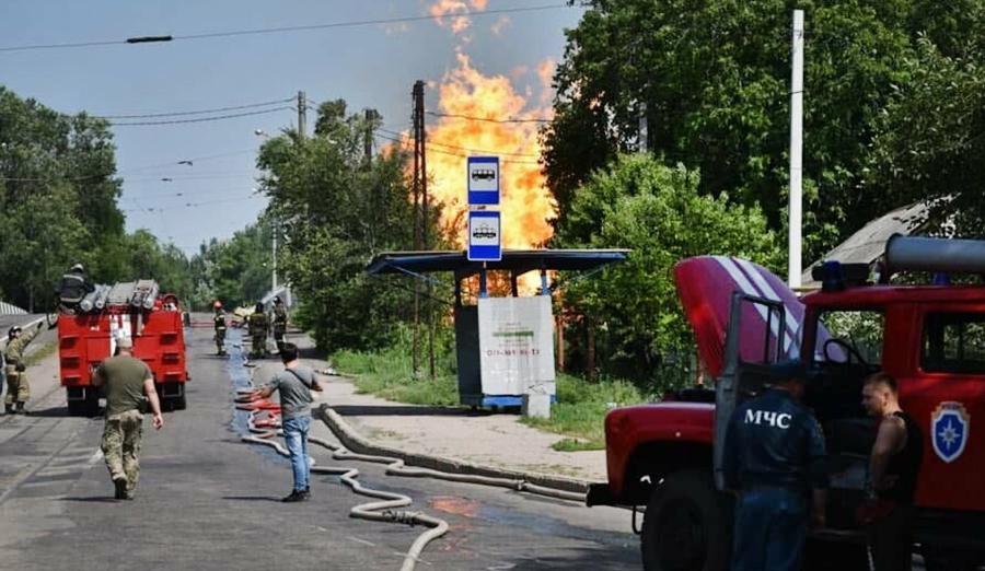 Взрыв газопровода в Донецке