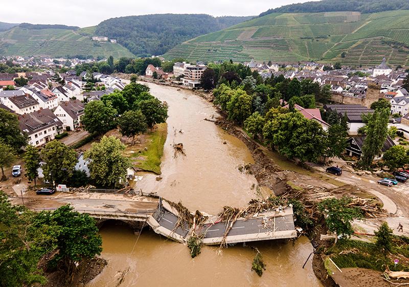 Последствия проливных дождей в Германии