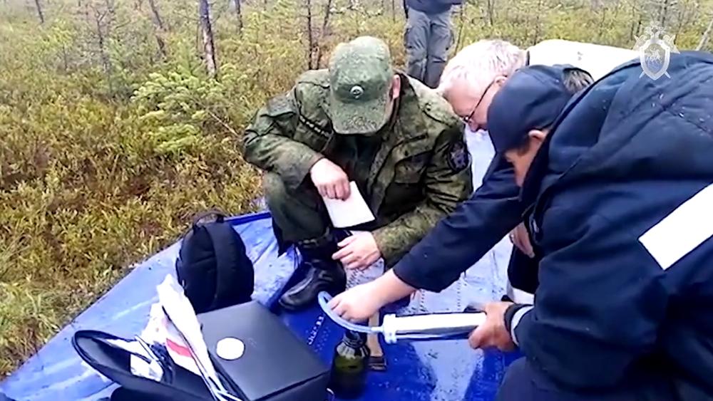 Следователи на месте аварийной посадки самолета Ан-28