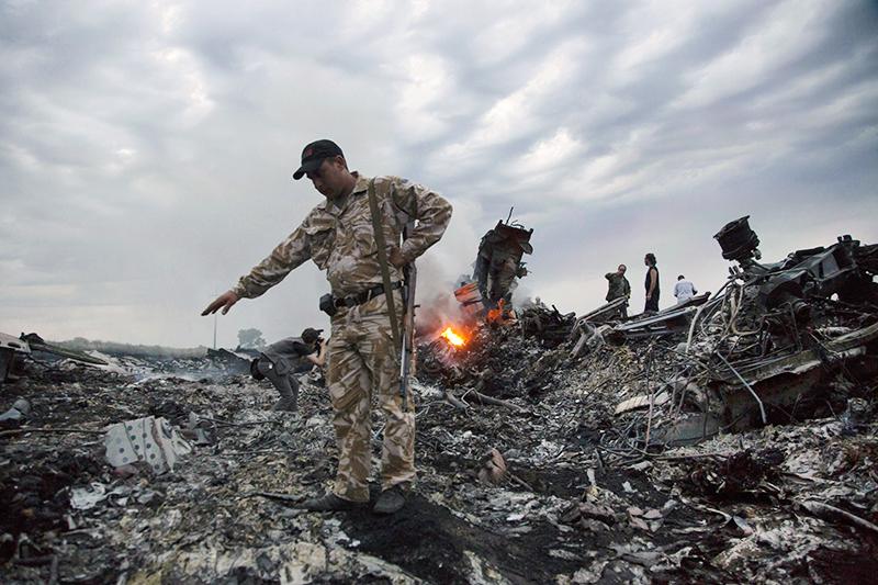 Место падение MH17 в Донбассе