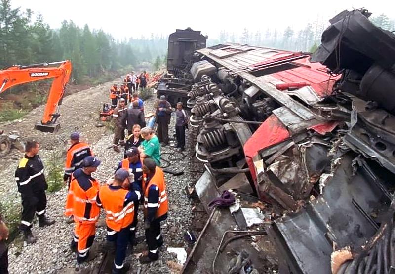 Последствия столкновения поездов