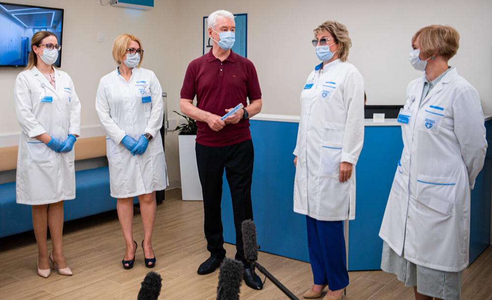 Сергей Собянин открыл после реконструкции поликлинику в Западном Дегунине