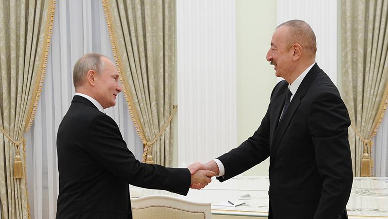 Владимир Путин и президент Азербайджана Ильхам Алиев