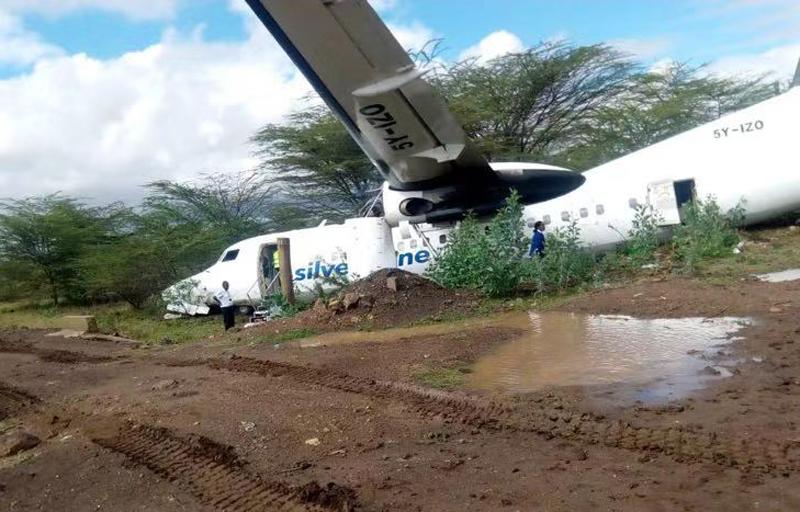 Жесткая посадка пассажирского самолета авиакомпании Kenyan airline в Сомали