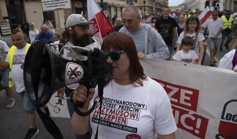 Протесты против вакцинации в Польше