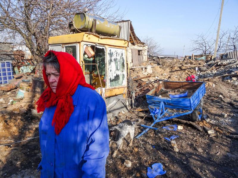 Разрушенное село Никишино в Донецкой области