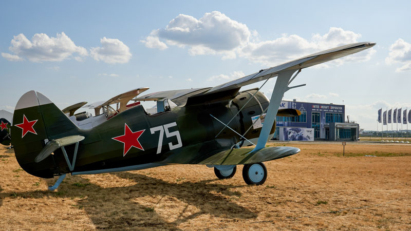 "Истребитель И-153 ""Чайка"" на авиасалоне МАКС-2021"