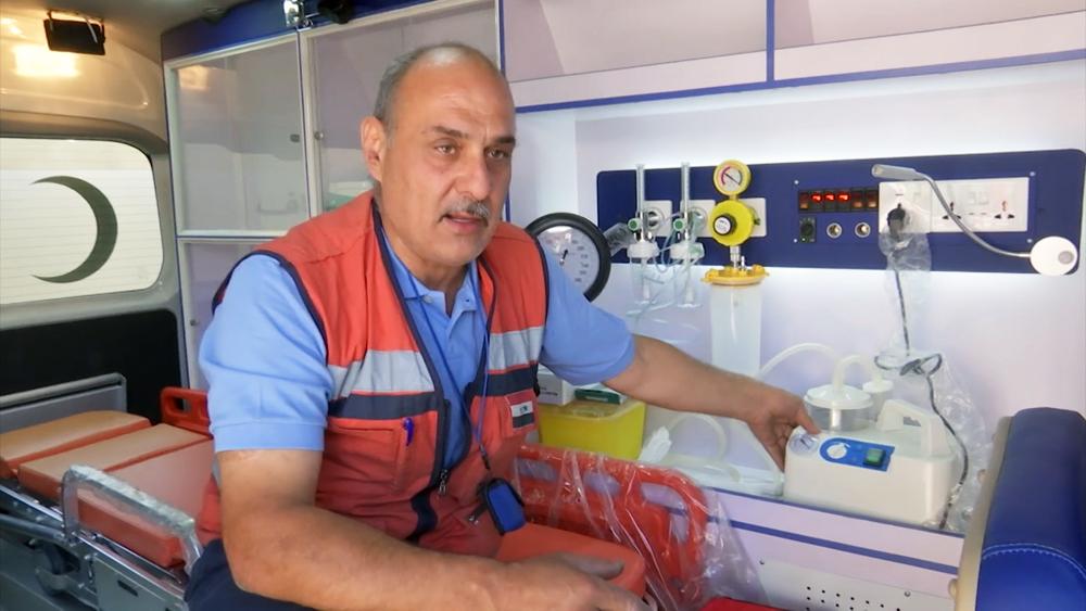 Врач скорой помощи в Сирии
