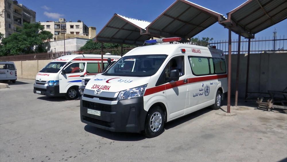 Станция скорой помощи в Сирии
