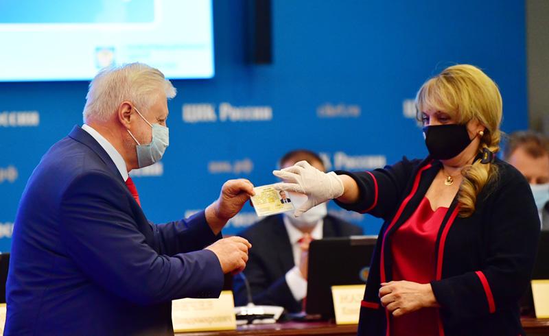 Сергей Миронов на заседании ЦИК России