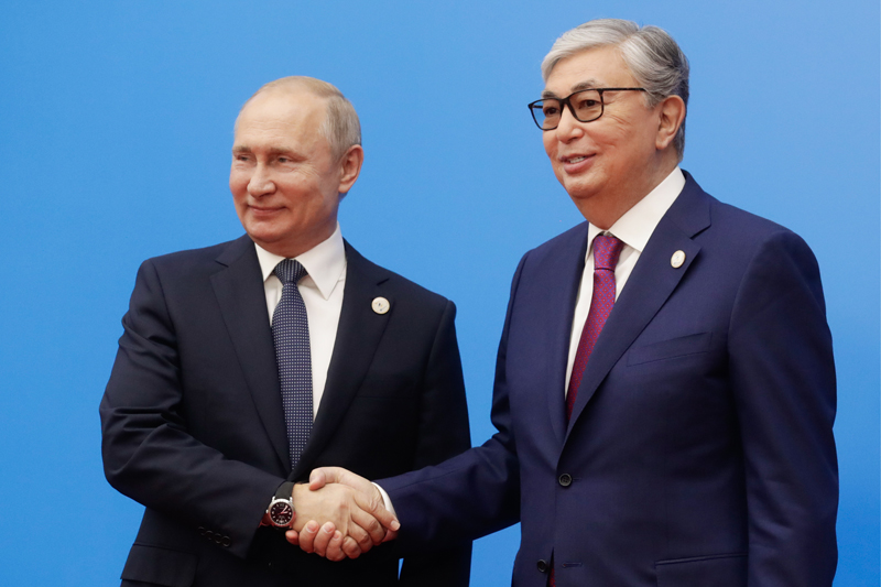 Владимир Путин и президент Казахстана Касым-Жомарт Токаев