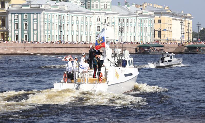Празднование Дня ВМФ России в Санкт-Петербурге