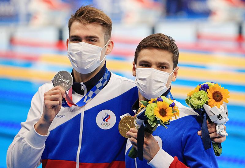 Климент Колесников, Евгений Рылов на церемонии награждения