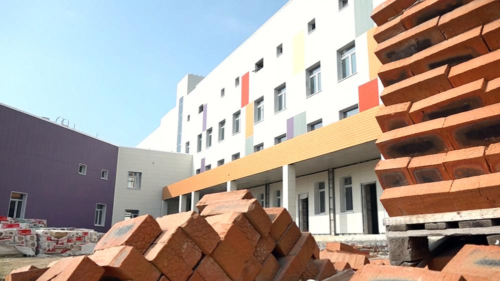 Строящаяся детская больница в Комсомольске-на-Амуре
