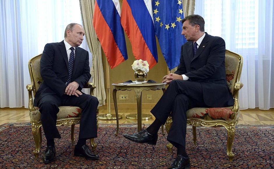 Владимир Путин и Борут Пахор