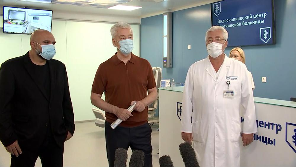Сергей Собянин посетил эндоскопический центр Боткинской больницы
