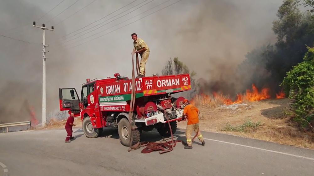 Тушение лесных пожаров в Турции