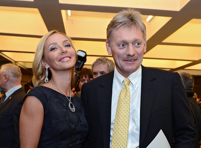 Дмитрий Песков и фигуристка Татьяна Навка