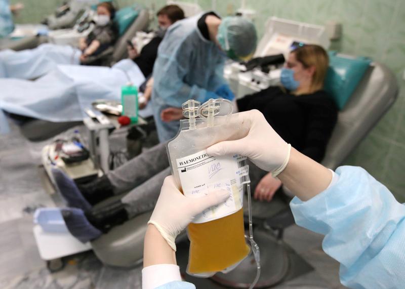 Сдача донорской плазмы вакцинированных от COVID-19 в Москве