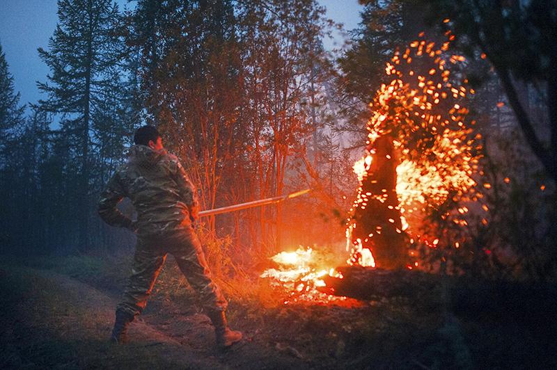 Пожар в Якутии
