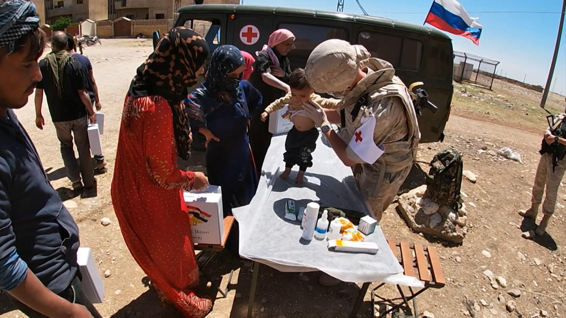 Работа военврачей в Сирии